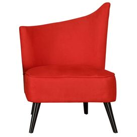Georgina Left Swoop Accent Chair in Red