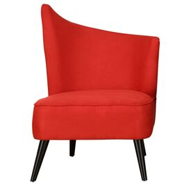 Georgina Right Swoop Accent Chair in Red