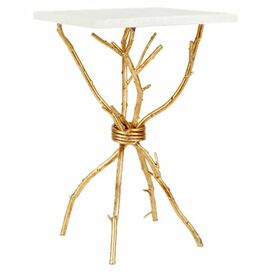 Branches Accent Table in Gold