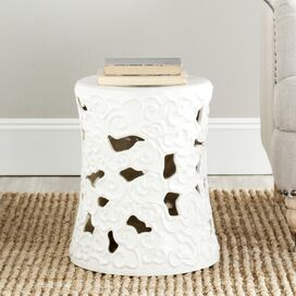 Wave Garden Stool in White