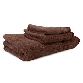 3 Piece Melanie Towel Set in Mocha