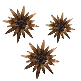 3 Piece Gazanias Wall Art Set