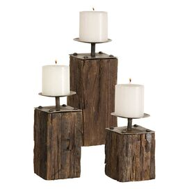 3 Piece Kelton Candleholder Set & Candles