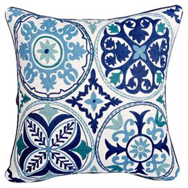 Blue Pottery Pillow