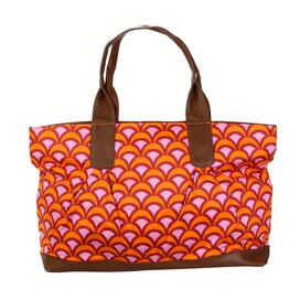 Abina Tote in Fountains Tangerine