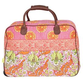 Graceful Traveler Bag in Temple Tulips Tangerine