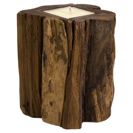 Teakwood Pillar Candle