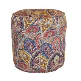 Paisley Pouf in Multi
