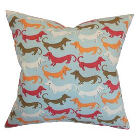 Doxie Pal Pillow in Carnival