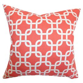 Meredith Pillow in Coral