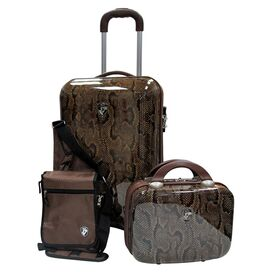 3 Piece Weekender Luggage Set in Snake