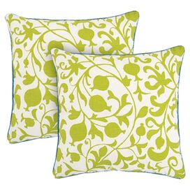 Quince Pillow in Lime