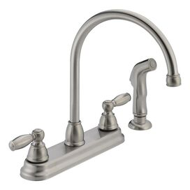 Peerless High Arc Kitchen Faucet II with Side Spray in Stainless Steel