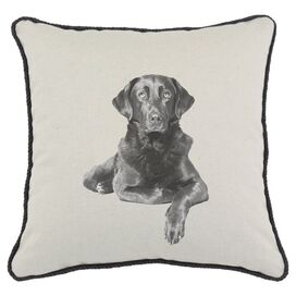 Black Labrador Pillow