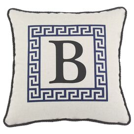 Monogram Pillow in Blue