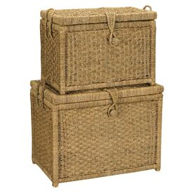 2 Piece Sea Grass Chest Set