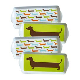 4 Piece Hot Dog Dessert Tray Set