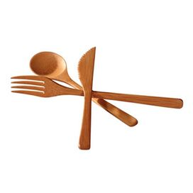 3-Piece Bamboo Flatware Set