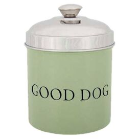 Good Dog Treat Canister in Sage Green