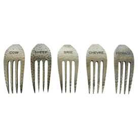 5 Piece Epicureanist Cheese Fork Marker Set