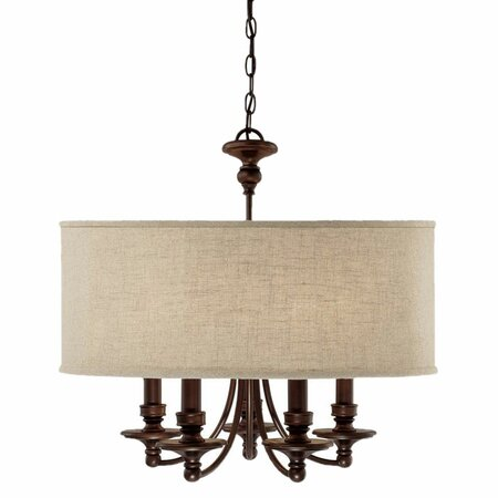Midtown 5-Light Chandelier in Bronze