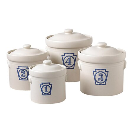 4 Piece Yorktowne Keystone Sealed Canister Set