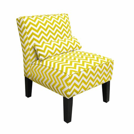 Chevron Accent Chair In Yellow Summer Brights Pastels