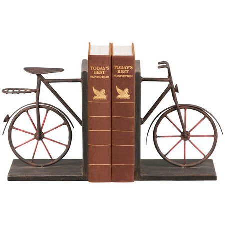 2 Piece Bicycle Bookend Set