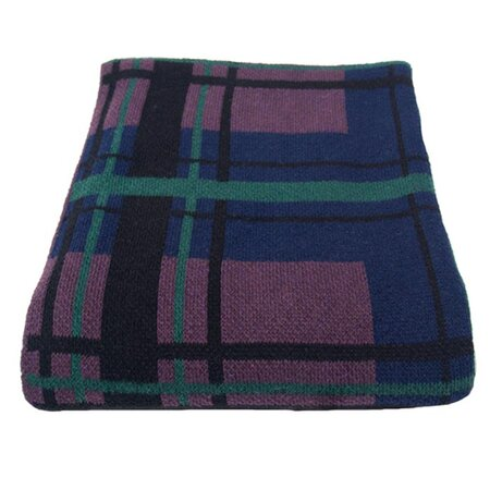 Plaid Throw in Marine
