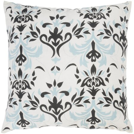 Damask Pillow in Ivory - Set of 2