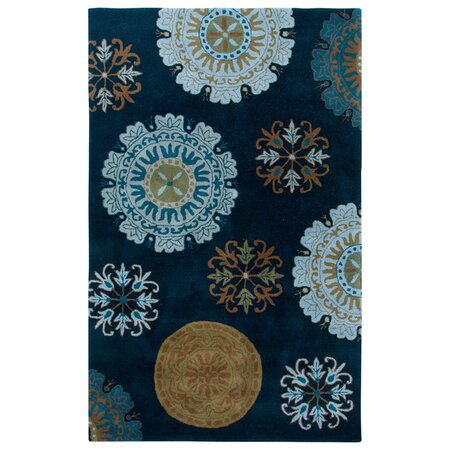 Medallion Rug in Navy