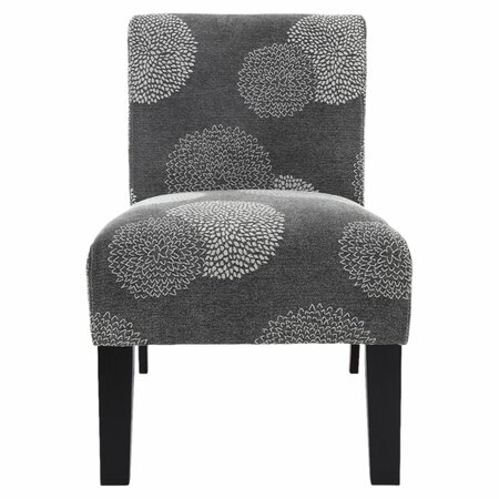 Deco Accent Chair in Charcoal