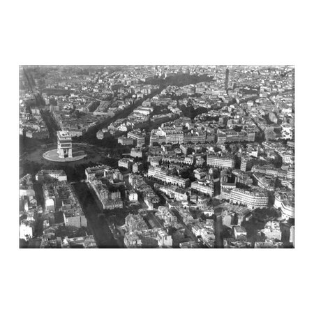 Arc de Triomphe as Viewed From a Balloon