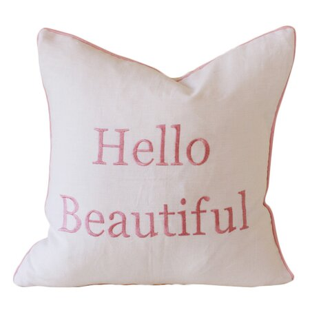 Hello Beautiful Pillow