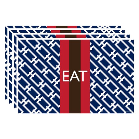 Eat Placemat in Navy - Set of 4