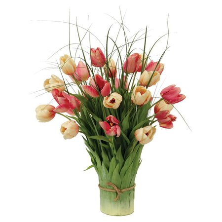 Faux Tulip & Leaf Arrangement II