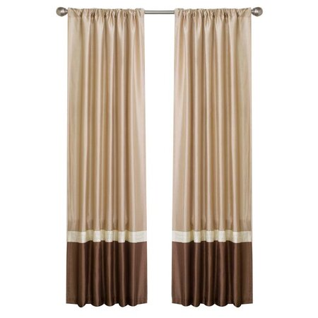 Leron Curtain Panel in Taupe