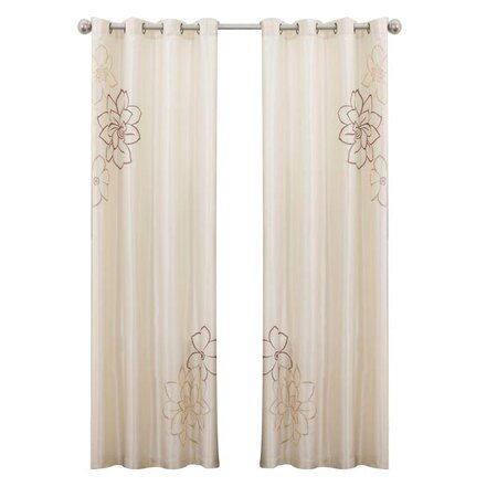 Florino Curtain Panel in Taupe