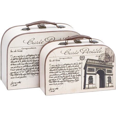 2 Piece Carte Postale Decorative Box Set