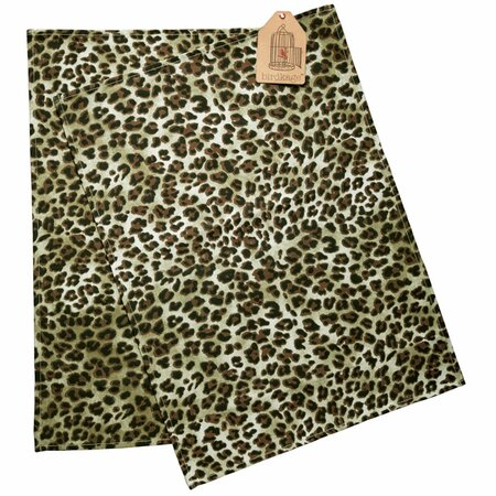Bowery Tea Towels in Leopard - Set of 2 - Birdkage Style on Joss