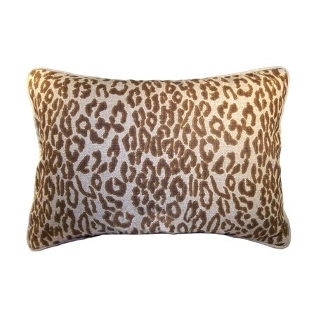 Leopard Lumbar Pillow in Copper