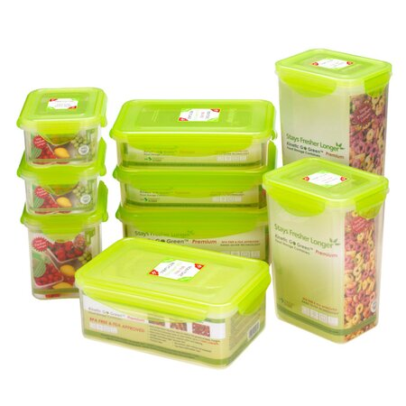 Go Green Premium 18 Piece Food Storage Set