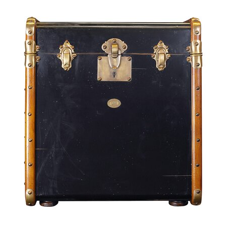 Stateroom Trunk End Table in Black