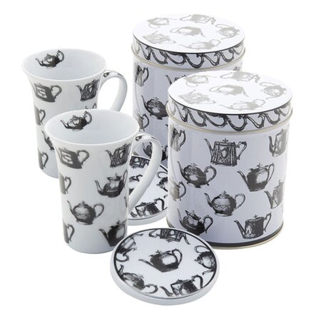 3 Piece Mug Set in Antique Pewter - Set of 2