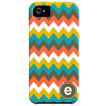 Zig Zag Monogrammed iPhone 5 Case in Multi