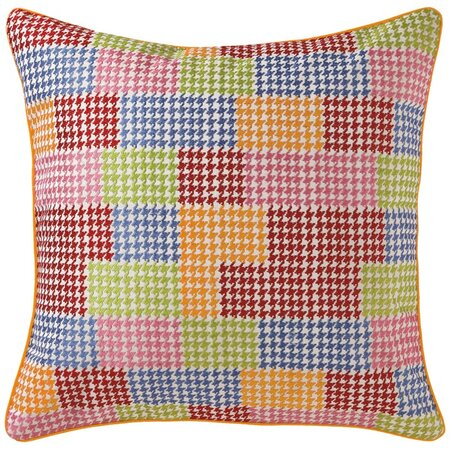 Company C Patchwork Pillow in Crimson