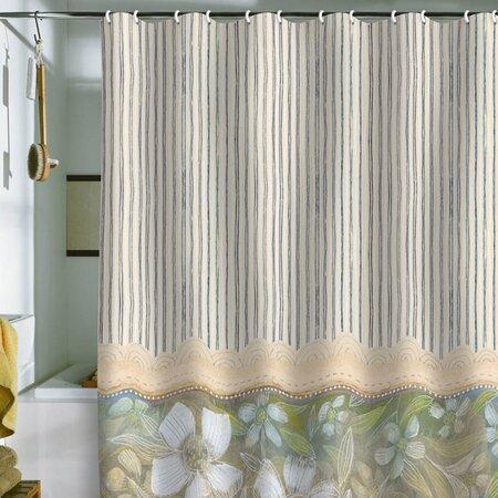 blue and white stripes shower curtain cori dantini on