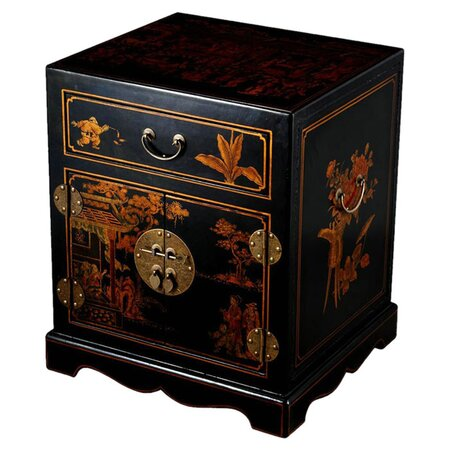 Mandarin Leather End Table
