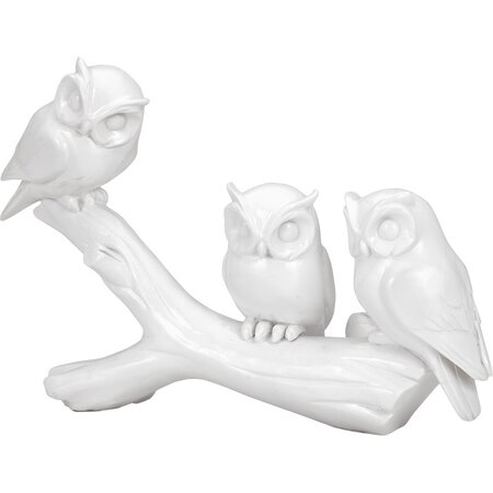 Owl & Branch Sculpture
