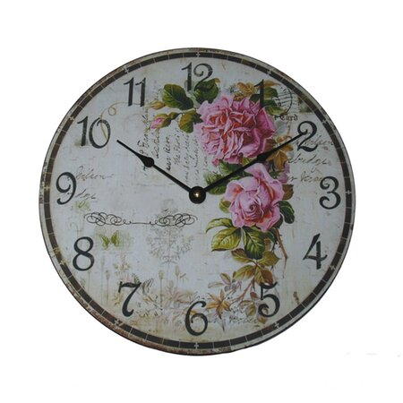 Ashton Sutton Rose Wall Clock